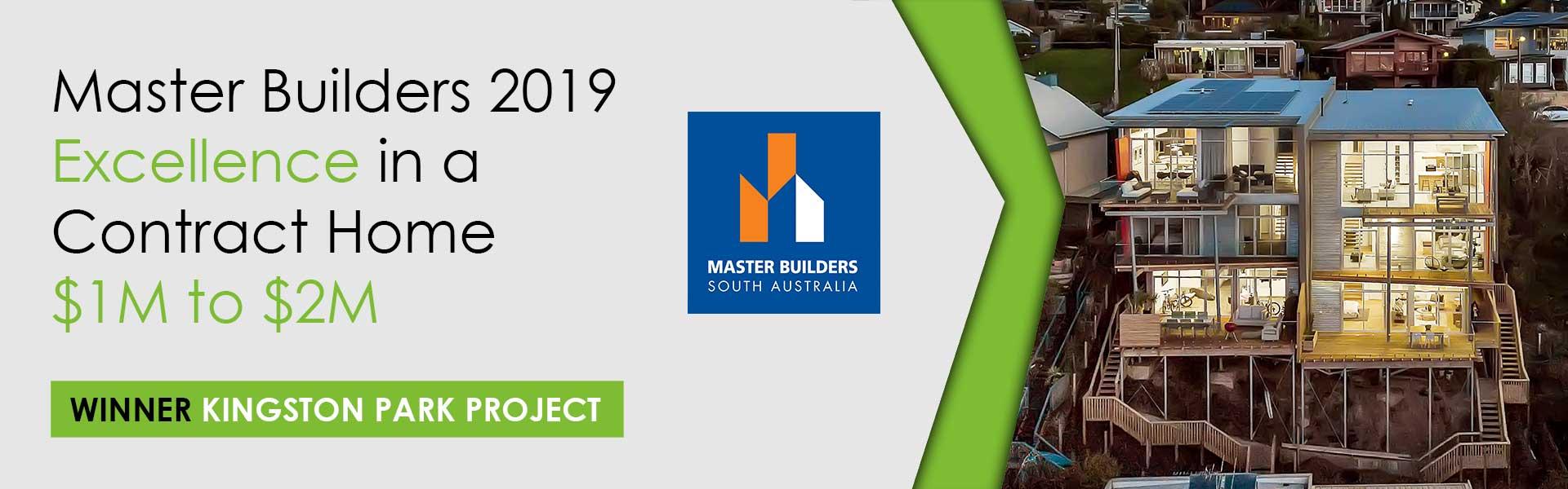 Master Builder Home Builder Awards 2019 Winner